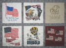 American Pride quilt panels