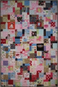 Quilt made from toddler clothes