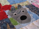 Baby sleeper quilt close-up