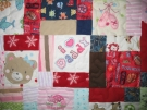 Baby clothing quilt - I Love Daddy - panel