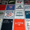 MLB Stadium Tour T Shirt Memory quilt panels