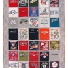 MLB Stadium Tour T Shirt Memory quilt