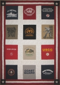 Patriotic Coast Guard Tee Shirt Quilt