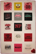New Philadelphia Cheerleader T Shirt Memory Quilt