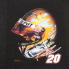 Tony Stewart Helmet T shirt Memorial quilt panel