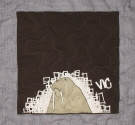 Skateboard Walrus T Shirt Quilt Panel