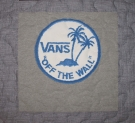 Van's Skate Shop T Shirt Quilt Panel
