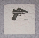 Pull the Trigger Skate Shoe Quilt Panel