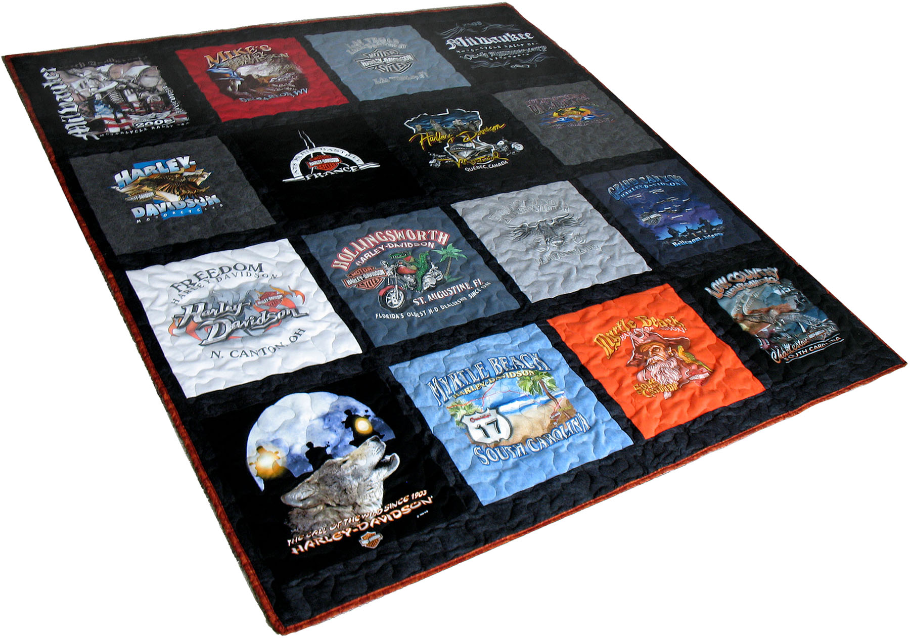 Tshirt Quilts, Tshirt Blankets, Memory Quilts - All Made From Your ... : quilts made from tee shirts - Adamdwight.com