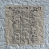 Who's on first routineT Shirt Memory quilt panel