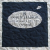 New York Yankee Stadium T Shirt Memory quilt panel